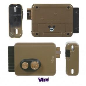 Serrure électrique V05 entraxe réglable de 50 à 80mm avec bouton poussoir intérieur