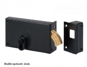 Serrure horizontale en applique pour cylindre européen à crochet