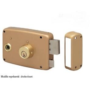 Serrure 4125SF horizontale en applique à fouillot, pêne dormant et 1/2 tour, cylindre rond