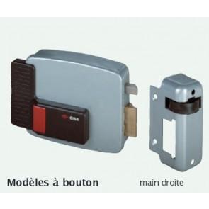 Serrure électrique tirant en applique avec bouton Cisa