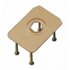 Contre plaque acier pour verrou cylindre rond