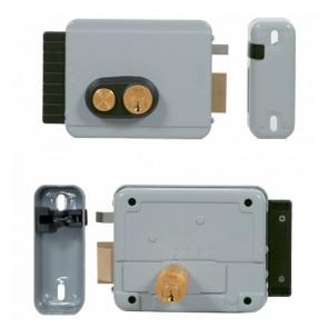 Serrure électrique V97 entraxe réglable de 50 à 80mm avec bouton poussoir intérieur