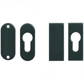 Rosette autocollante ovale ou rectangle pour cylindre européen ou borgne.